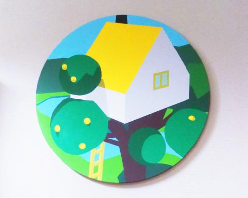 IKU HARADA Solo Exhibition 2017 -circle-